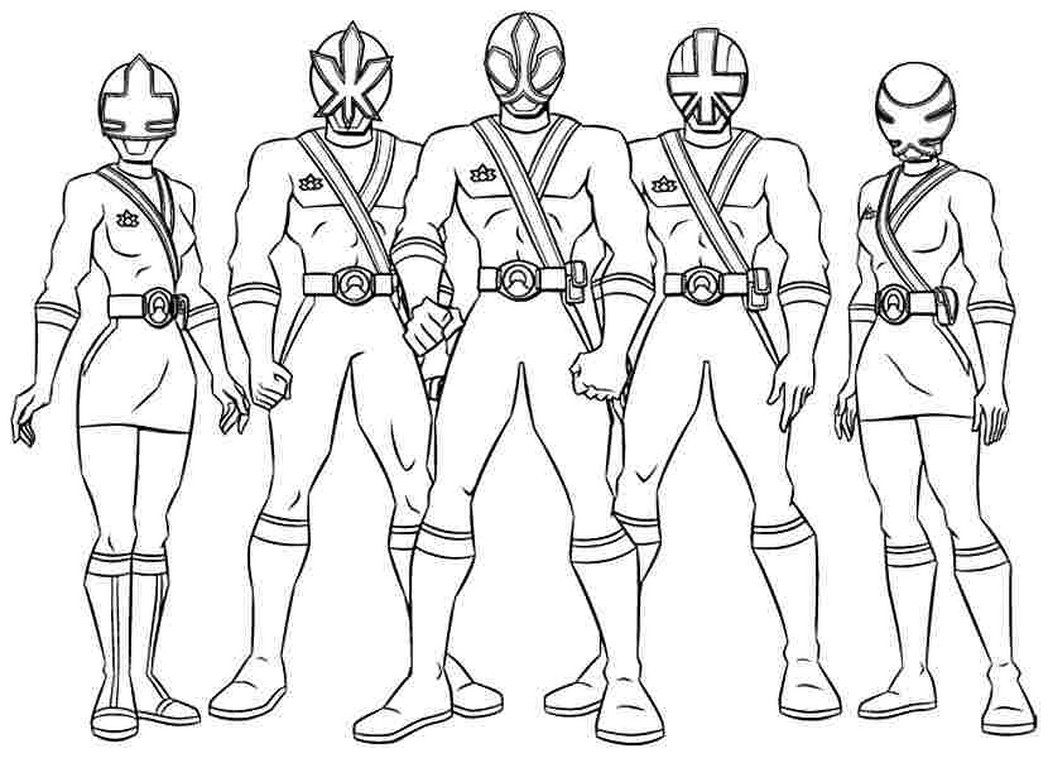 coloring pages power rangers for Coloring Pages for Free