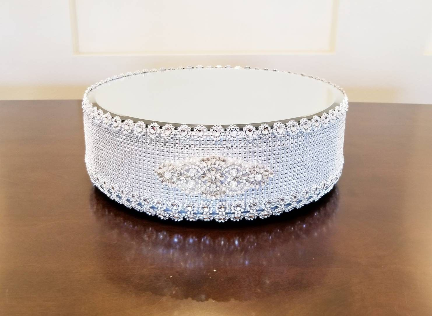 Silver Dazzle Bling 13 Inch Round Wedding Cake Stand/Cake Display ...