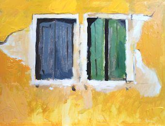 Shutter windows in acrylics