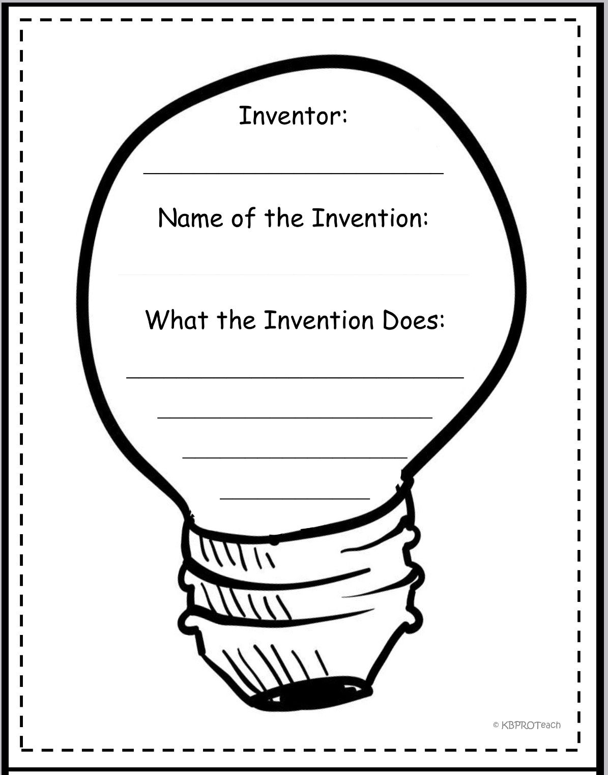 Freebie Graphic Organizers Inventions Story