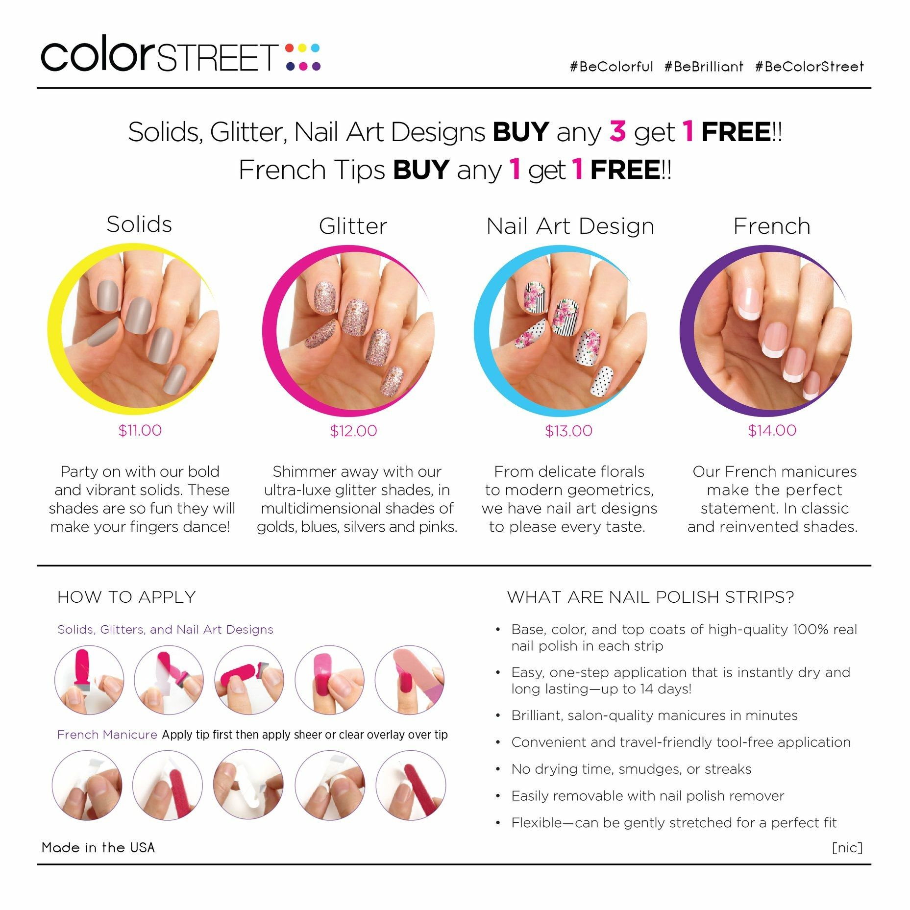 Best manicure Ever!! Color Street nail strips ~ 100% nail polish ...