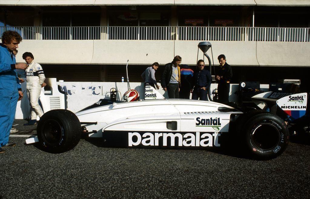 Testes de Nelson Piquet em Paul Ricard com o Brabham BT51, em fins ...