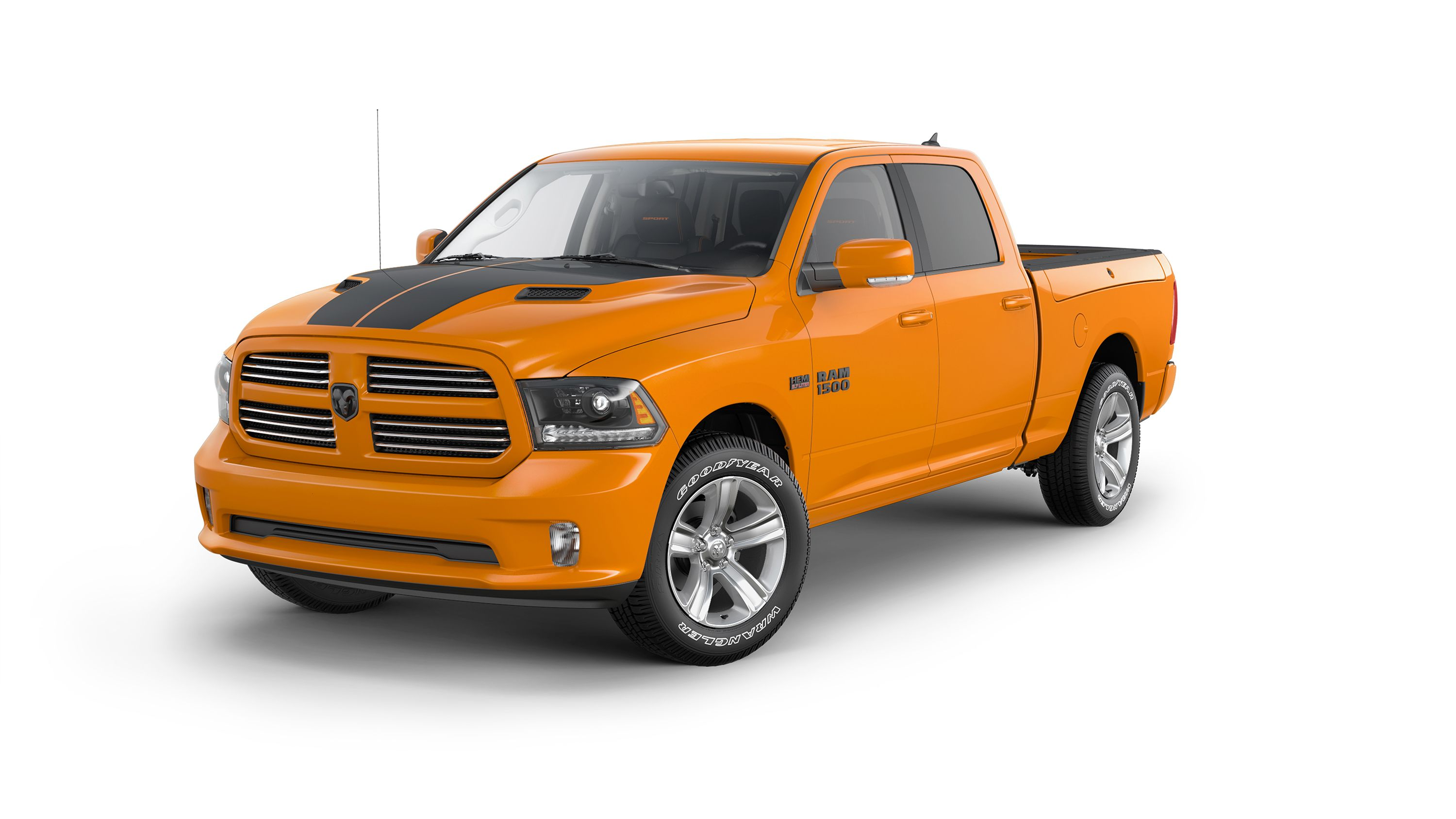 Ram 1500 Ignition Orange Sport Features Unique Interior Colors Body Colored Accents And Limited Edition Bright Orange Paint Ram 1500 Ram Trucks Work Truck