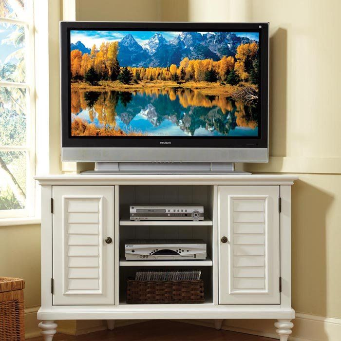 Bermuda Brushed Corner TV Stand
