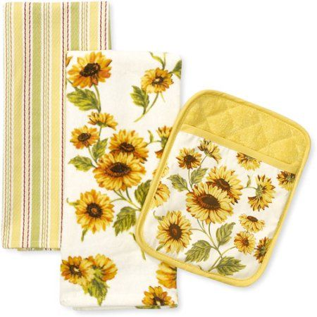 Better Homes And Gardens Sunflower Kitchen Towel And Pot Holder