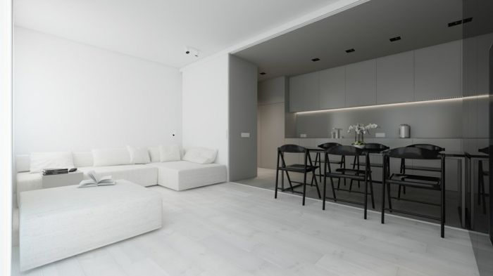 ▷ 1001 + ideas de decoración de salones minimalistas   Salones ...