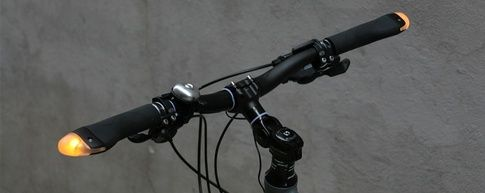 Direction indicators for bicycles called BlinkerGrips