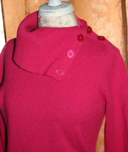 7a9028a5c9 Gap Pink Sweater Long Sleeve Button Cowl Neck Size M