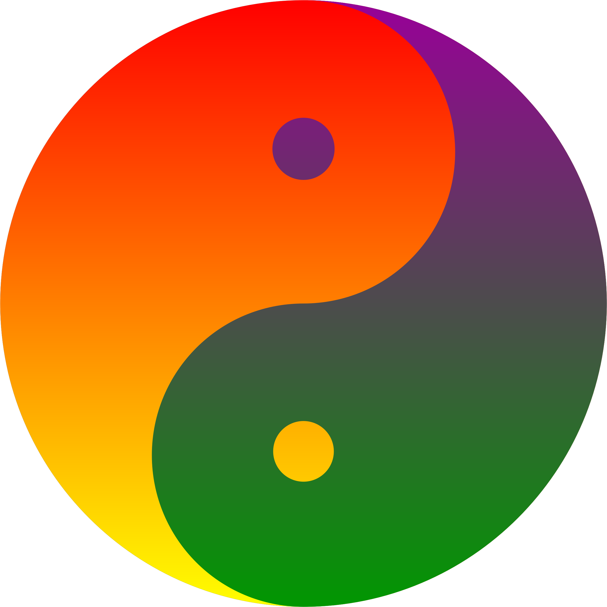 Clipart rainbow blend yin yang ying yang symbols pinterest the yin yang with yang filled with the colors of the rainbow flag and yin filled with their complementary as well as complimentary colors buycottarizona Choice Image