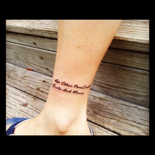 ancle quote tattoo - Pesquisa Google