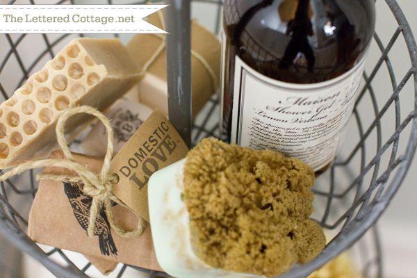 Handmade Soaps | Cottage Bathroom | The Lettered Cottage