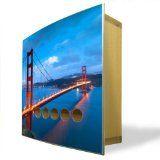 #4: Design Schlüsselkasten aus Bambus und Edelstahl mit Motiv: Golden Gate Bridge - http://www.xn--brombel-profi-lmb0g.com/bueromoebel/4-design-schlusselkasten-aus-bambus-und-edelstahl-mit-motiv-golden-gate-bridge