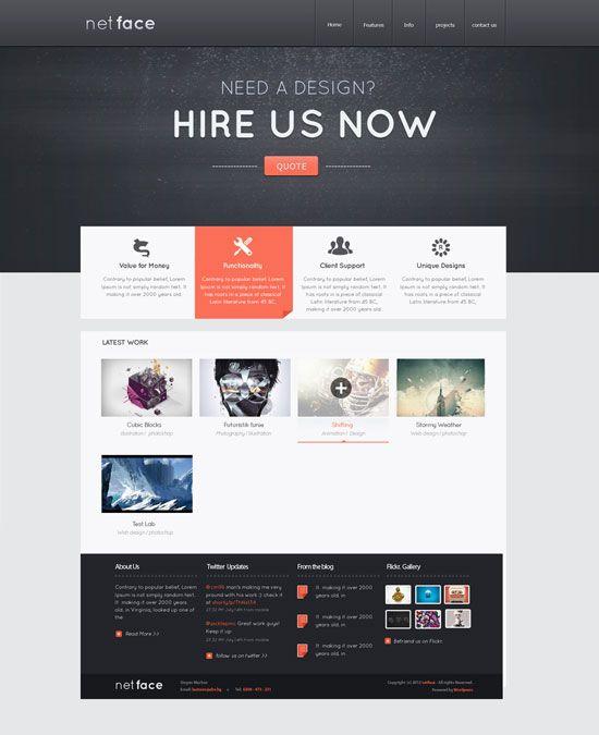 Netface Web Design Layout Web Layout Design Layout Design Website Design Layout