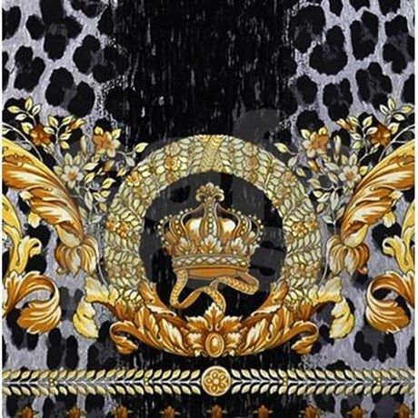 Leopard Crown Shower Curtain Pattern Art Silk Painting Versace