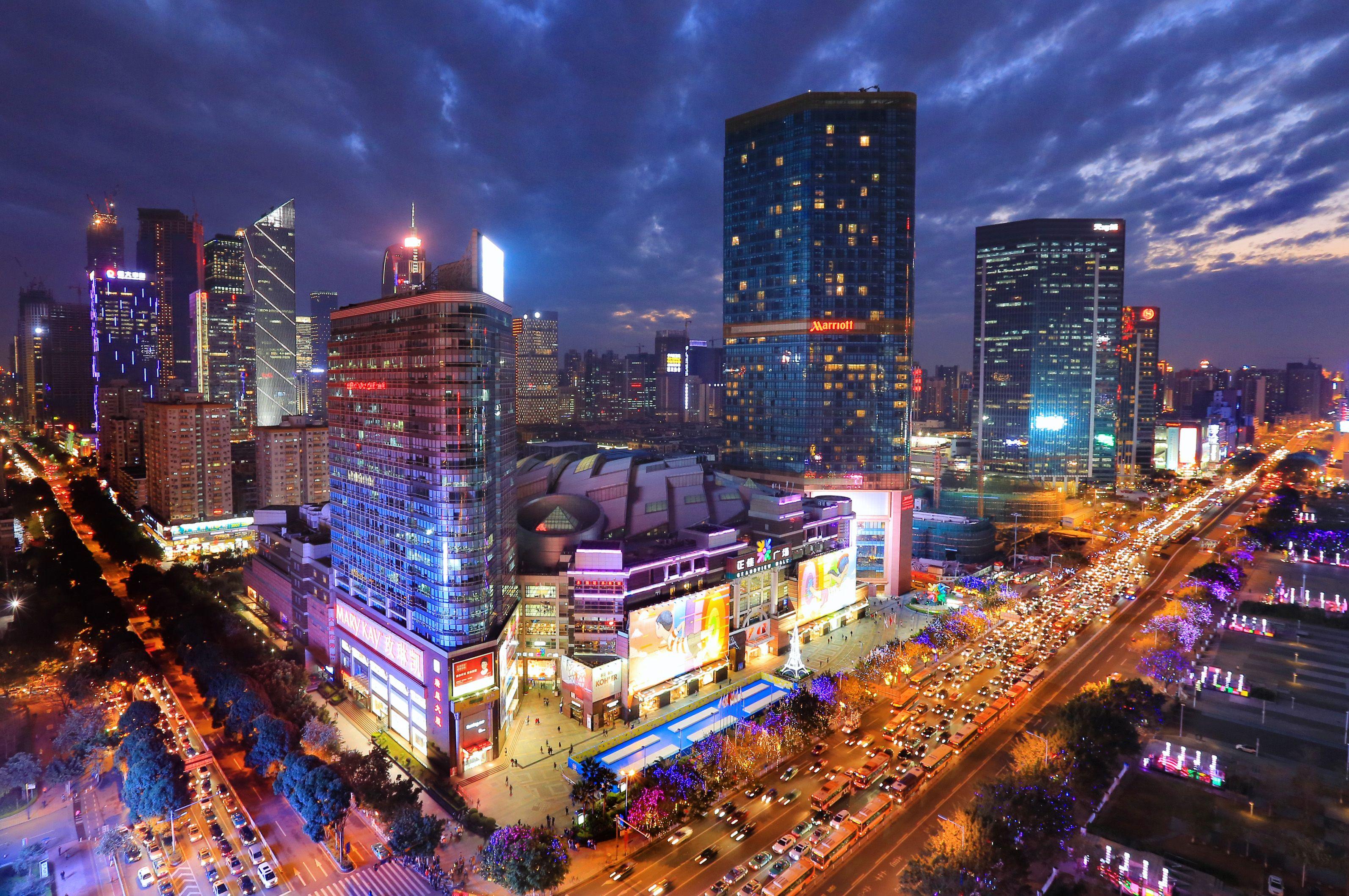 Tianhe Road At Night