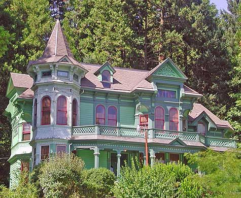 Colorful Victorian House In Eugene Oregon Victorian