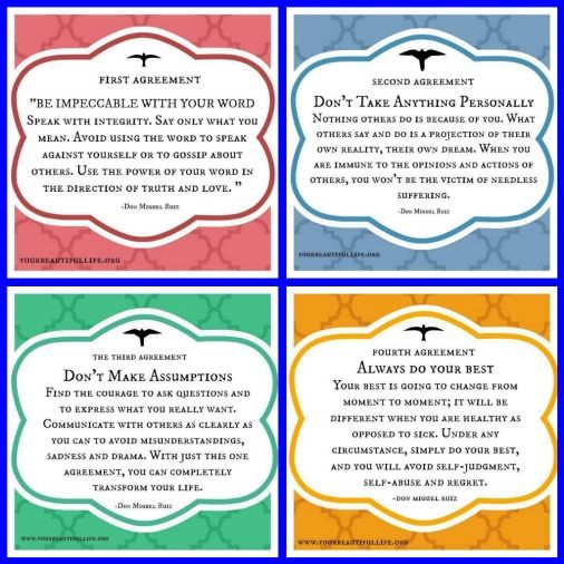 The Four Agreements! The Four Agreements Pinterest Numerology - agreement in word