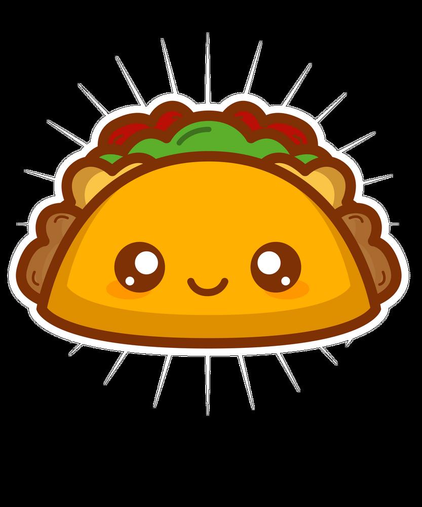 Cute Kawaii Style Taco Gift Art Print By Nik X Small In 2021 Art Gift Kawaii Taco Wallpaper