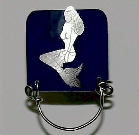 Magnetic Mermaid Eyeglass Holder in Navy by LauraWilsonGallery, $45.00