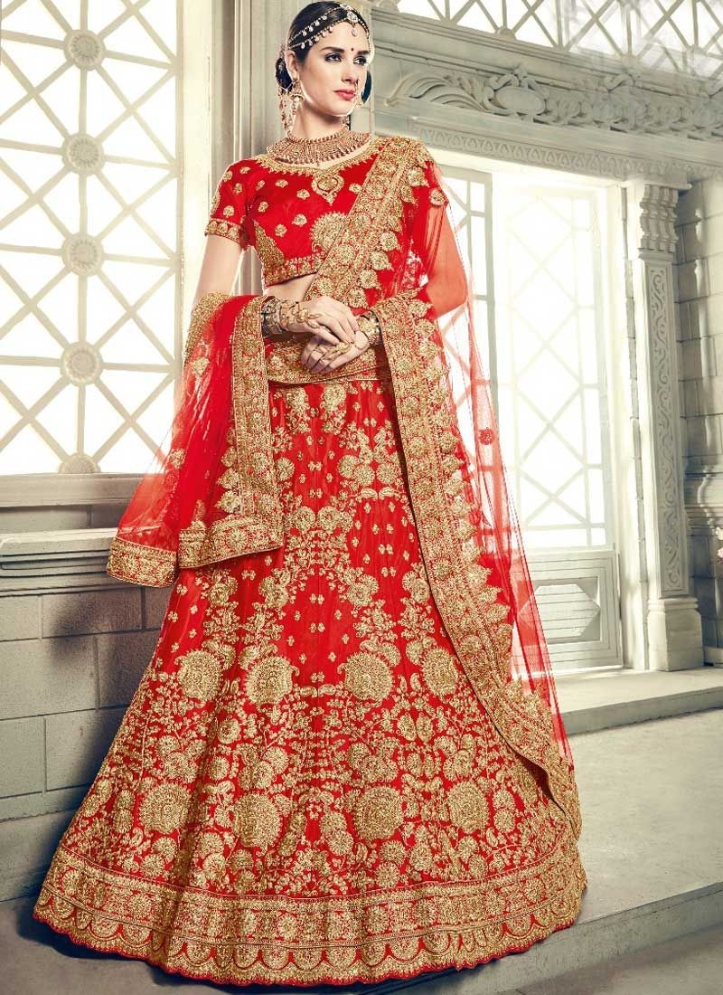 a747656336 Buy Art Silk Lehenga Choli Dark Red Color Online | Lehenga Choli ...