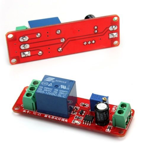 Dc 12v Delay Relay Shield Ne555 Timer Switch Adjustable Module 0 To 10 Second Timer Relay Shield