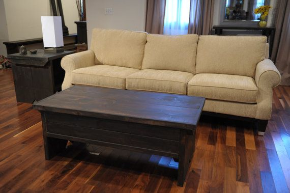 4 Foot Coffee Table With Storage By Modernrust On Etsy Coffee