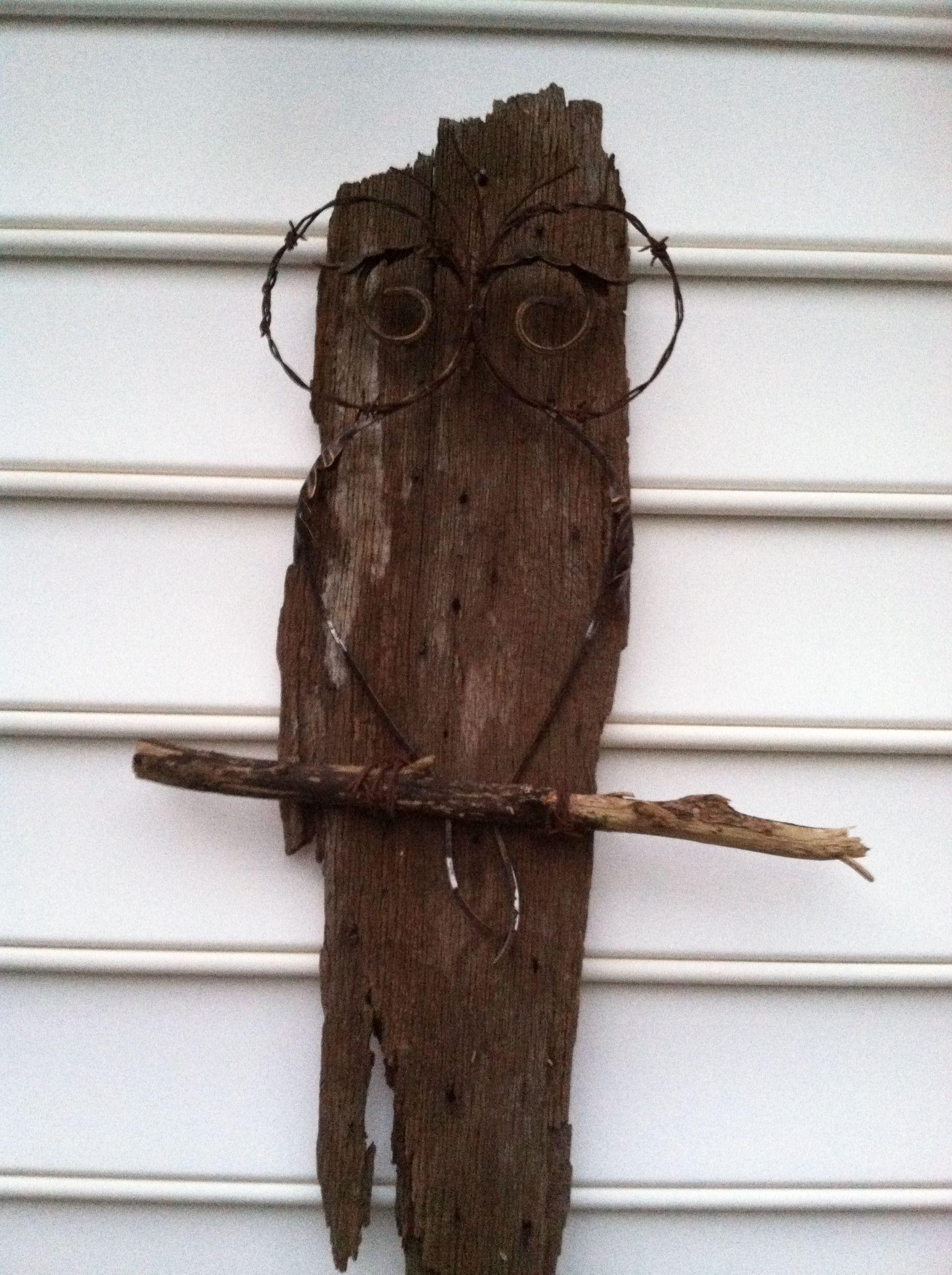 Barn wood owl crafts i wanna make pinterest barn wood owl
