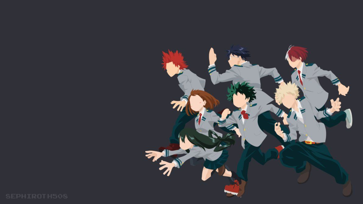 Boku No Hero Academia Minimalist By Https Www Deviantart Com Sephiroth508 On Deviantart Hero Wallpaper Anime Wallpaper Anime Computer Wallpaper