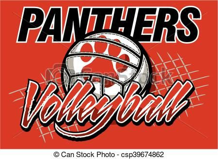 Vector Panthers Volleyball Stock Illustration Royalty Free Illustrations Volleyball Designs Volleyball Panthers