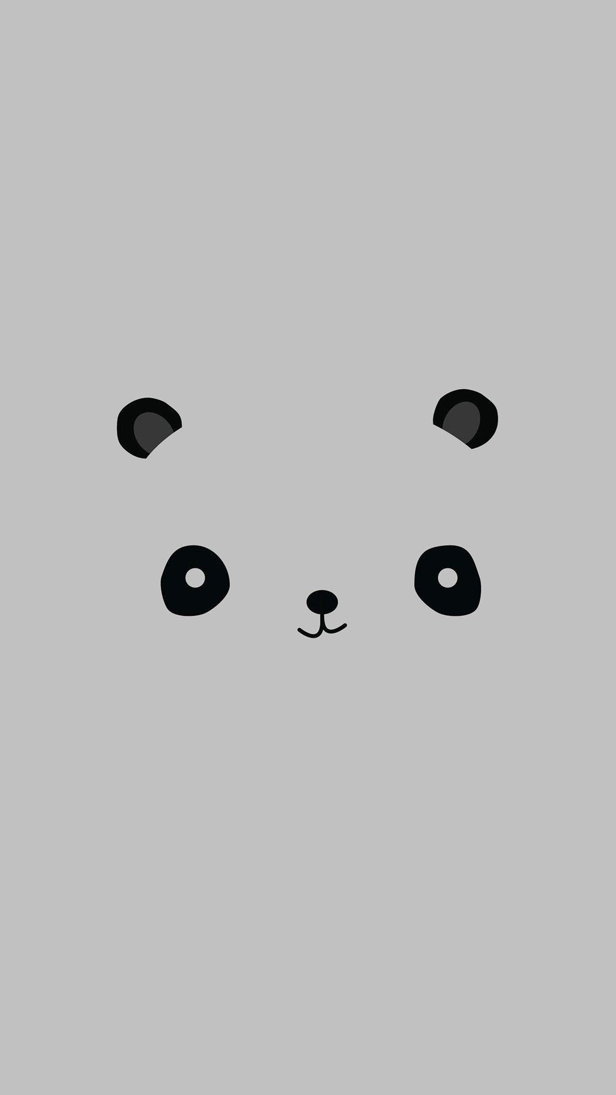 Cute Minimal Panda Smartphone Wallpaper and Lockscreen HD