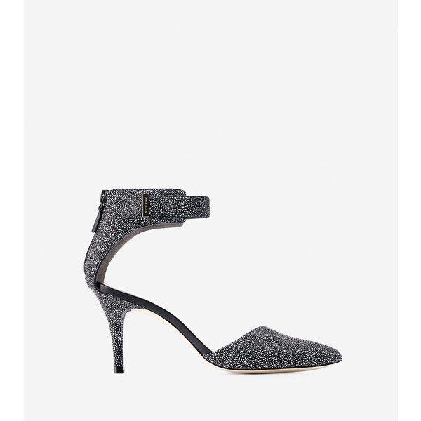 Womens Shoes Cole Haan Highline Backzip Pump Black/White
