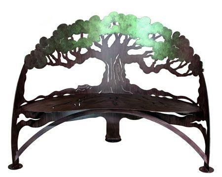 Charming Steel Garden Furniture Garden Bench, Sun Bench Decorative Garden Furniture