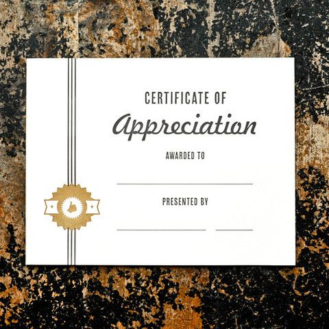 Appreciation Award Certificate  Certificate Appreciation And