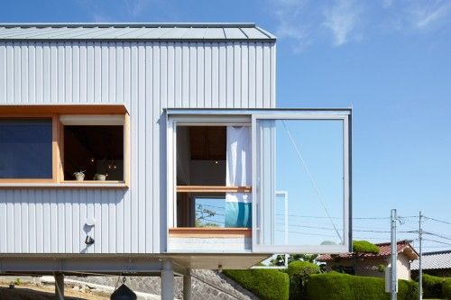 Stick Out Rail Windows Unique Elements Gable Roof Stilt House
