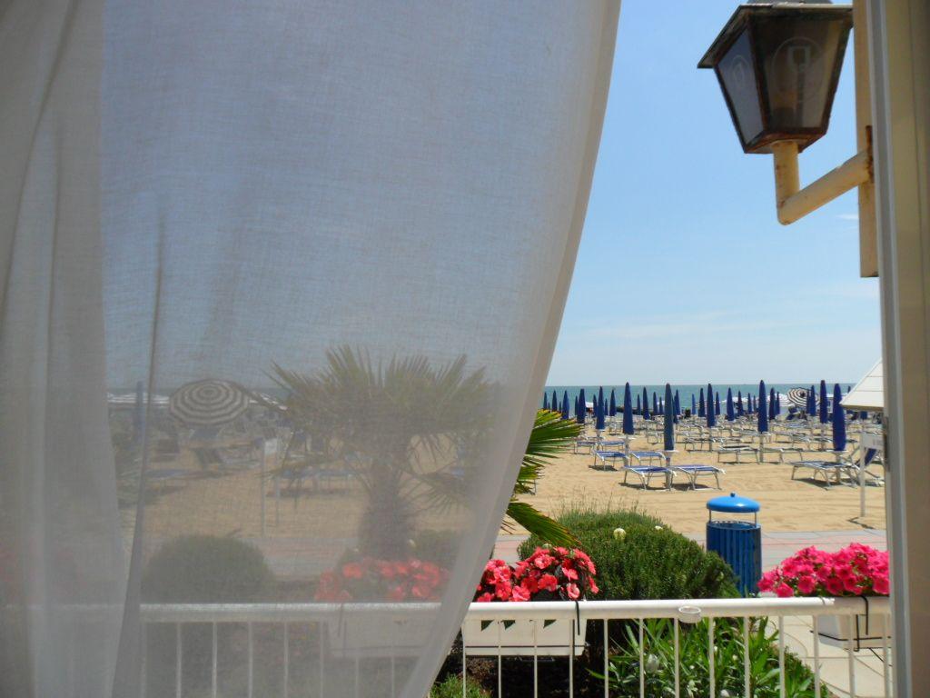 Hotel Telenia, Jesolo, Italy. A sea view from a cosy hotel