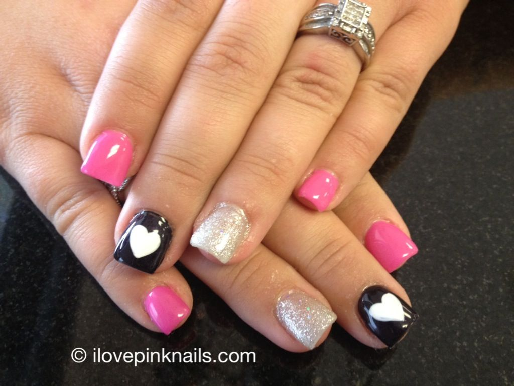 Valentines Day Soft Gel Nails Unas Pinterest Unas