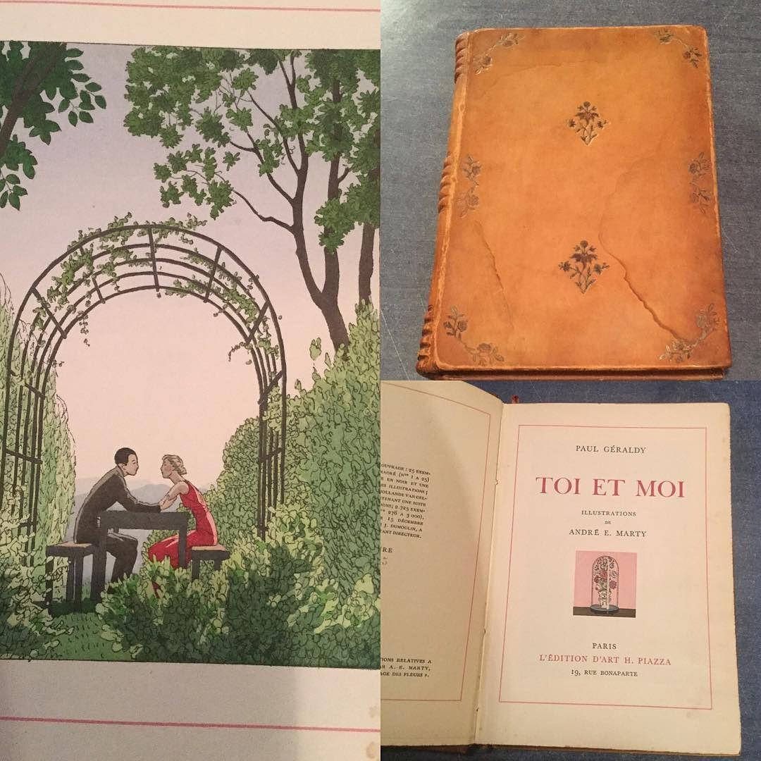 アンドレ マルティの挿画本 Toi et moi この皮表紙本が見つかりました状態もの良く発色も綺麗  #papier #livre #andreemarty #toietmoi  #かみもの #紙もの #紙ものマニア #アンドレマルティ #フランス #Gallery壹 #GalleryIchi