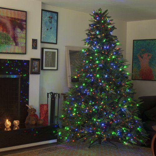 Mr. Light 7.5-Feet Hinged Artificial Christmas Tree with Dual Color LED  Lights 1000 - Mr. Light 7.5-Feet Hinged Artificial Christmas Tree With Dual Color