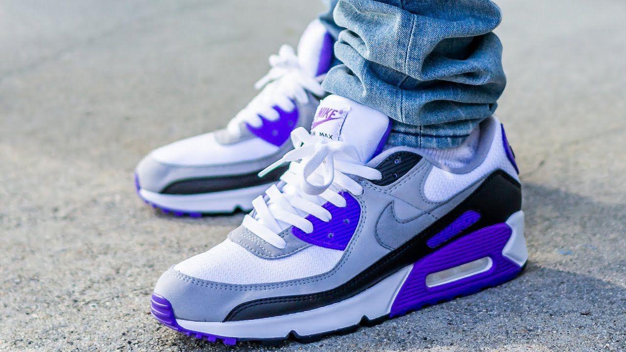 Nike AIR MAX 90 OG HYPER GRAPE On Feet Sneaker Review in ...