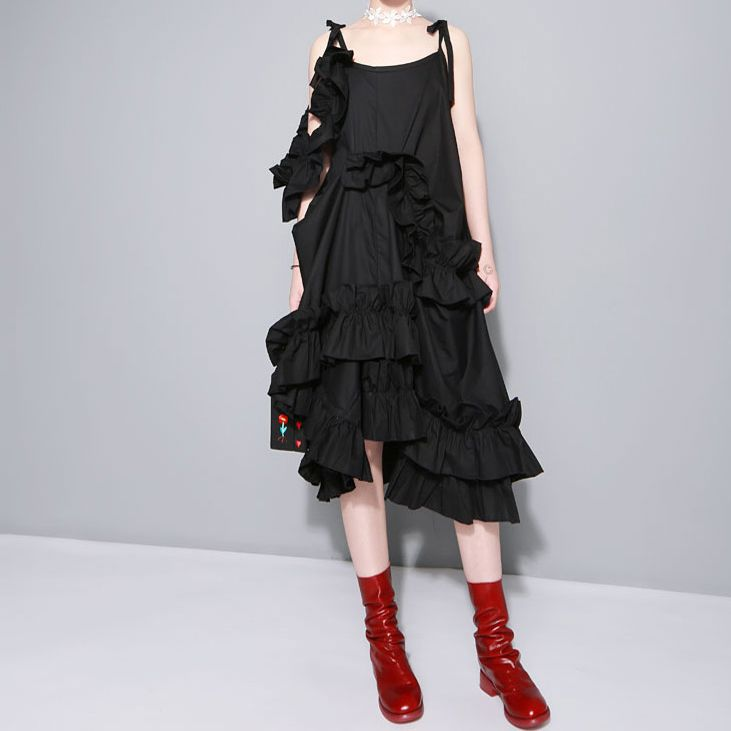 953aebcac5eb5 New 2016 Summer Women Sexy Black Long Dress Sleeveless Spaghetti ...