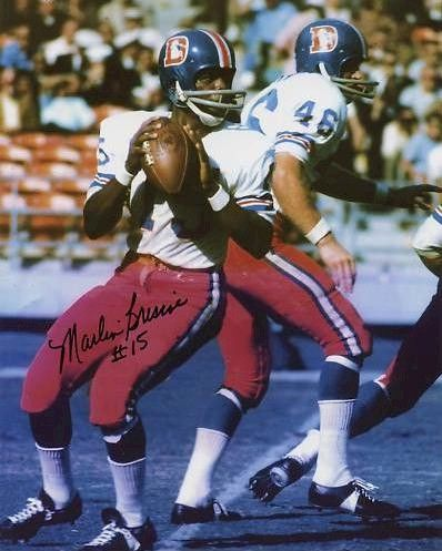 Marlin Briscoe, QB out of the University of Omaha became the first black quarterback in professional football in 1968.