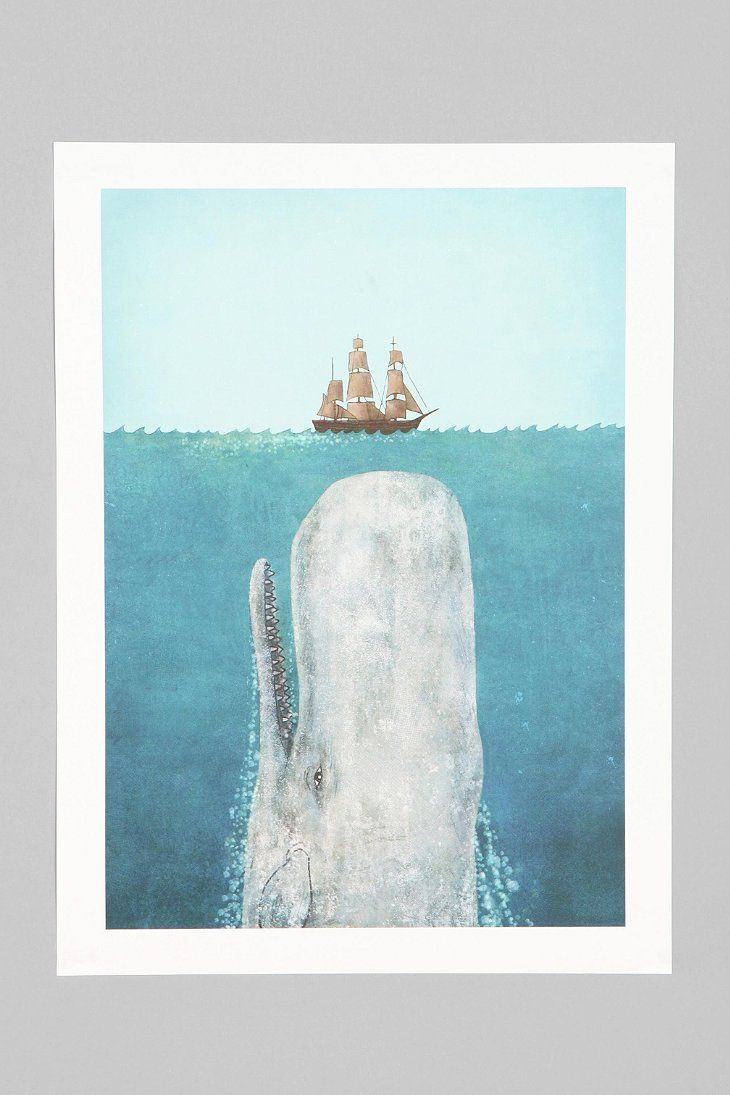 Terry Fan The Whale Art Print - Urban Outfitters
