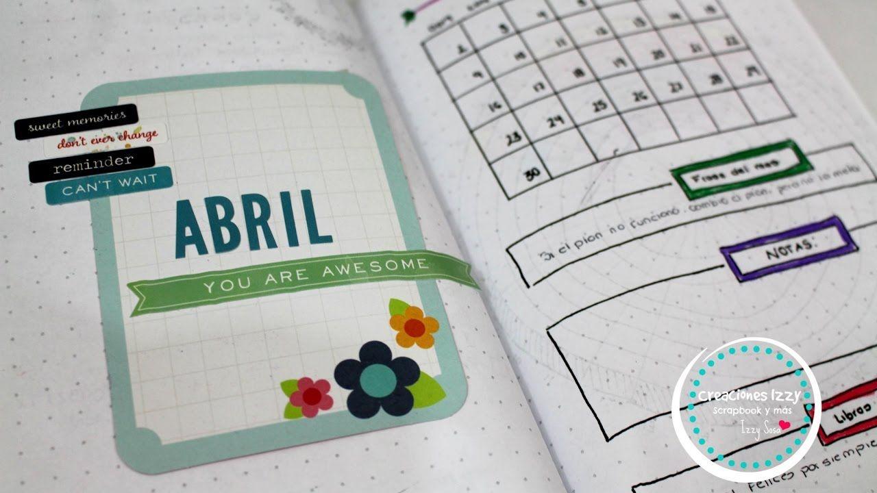 Bullet Journal del mes de Abril * Creaciones Izzy