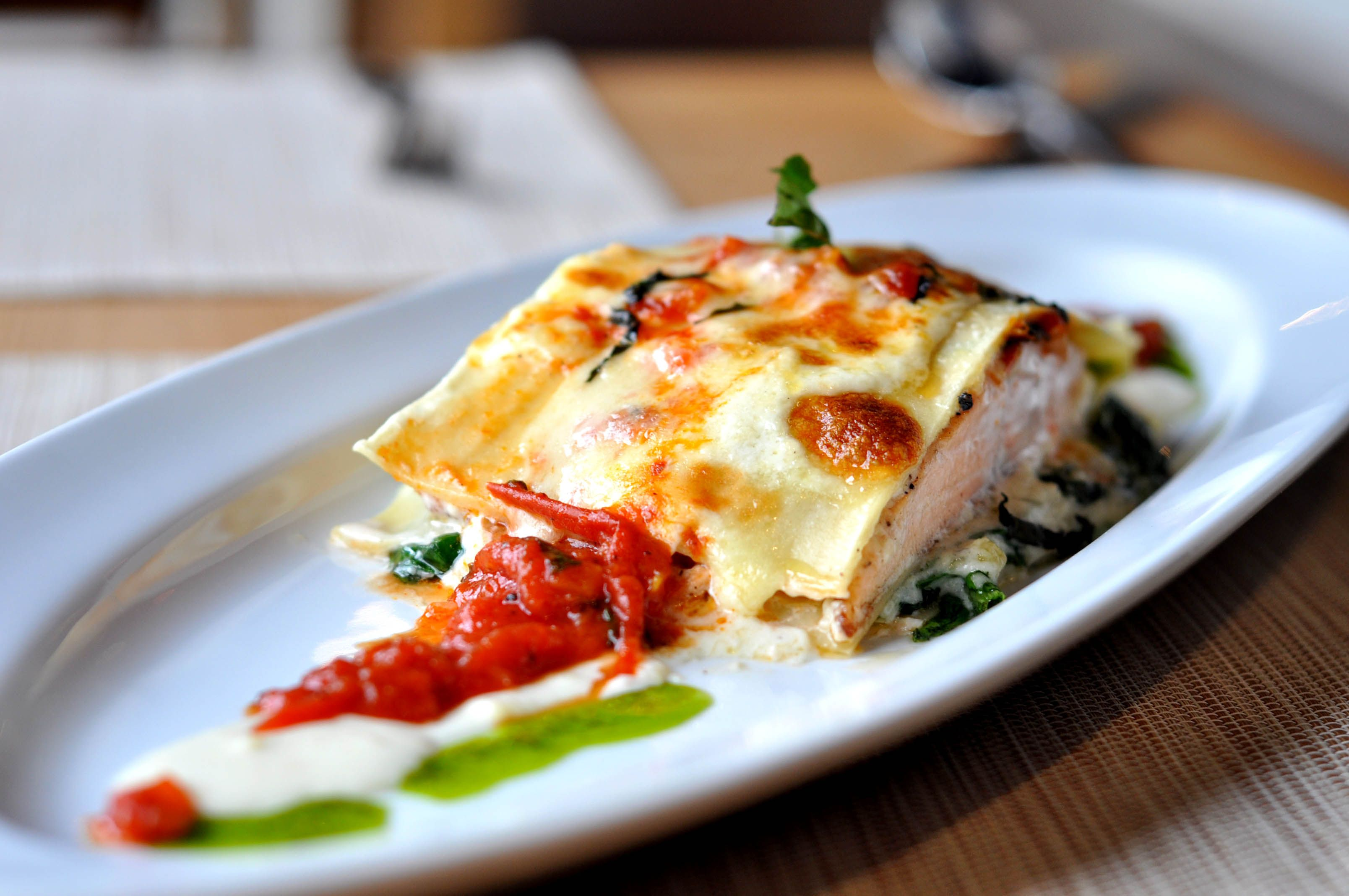 You Have To Try Last Minute Salmon Lasagna Ala Chef Gatot Available At Bianco Italian Resto At Atria Residences Gading Serpong