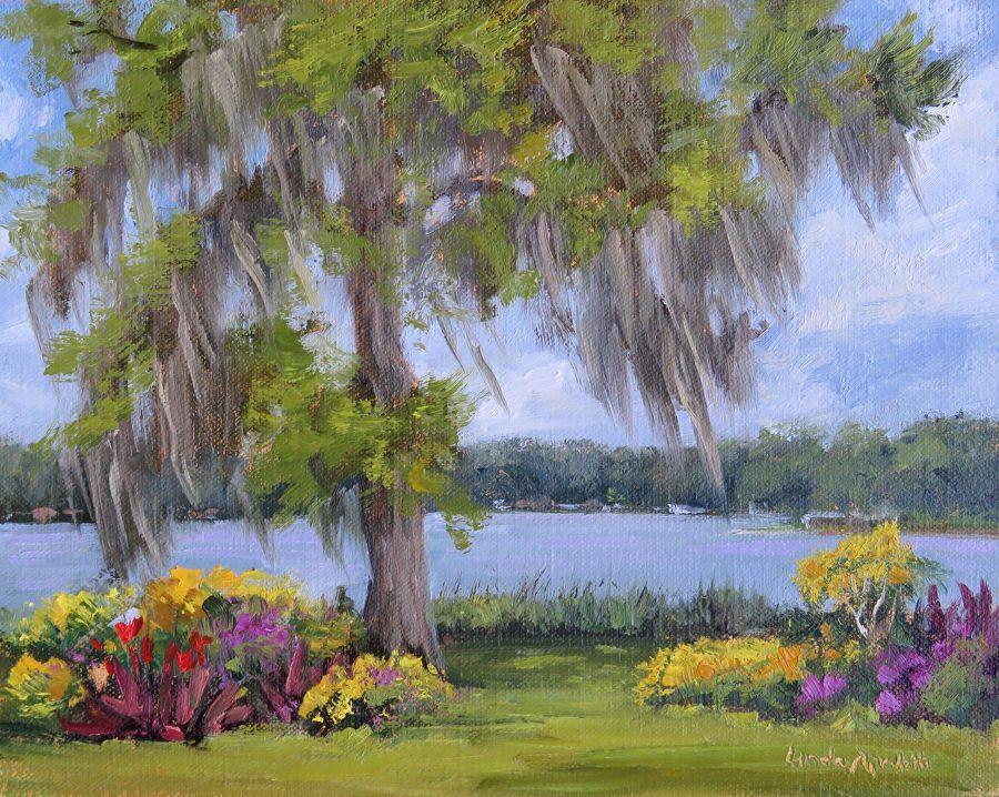 Cool lake breeze wppo by linda apriletti oil 8 x 10