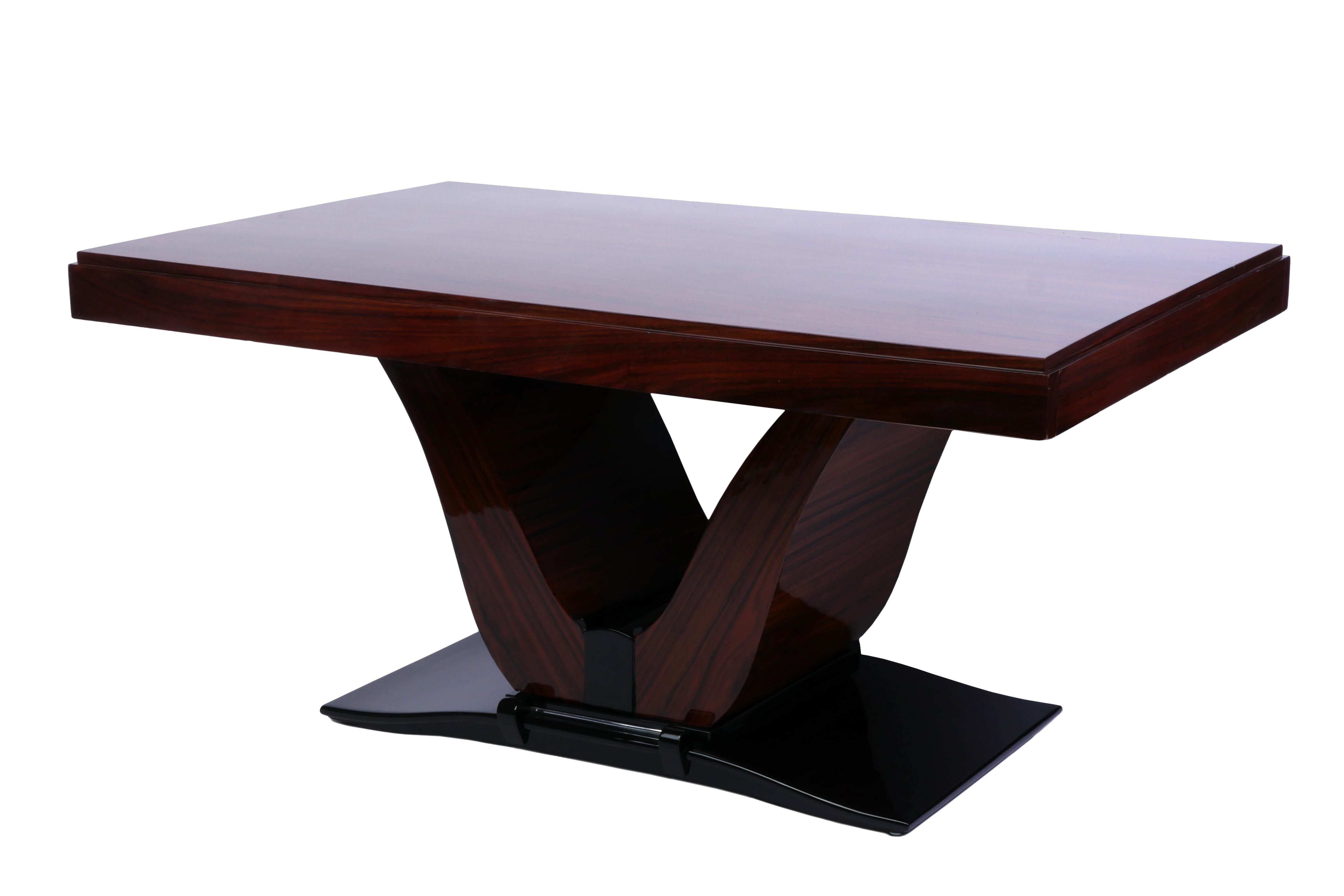 French Art Deco Rosewood Dining Table Art Deco Furniture Dining
