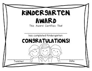 (FREEBIE) End of the School Year Awards for Kindergarten