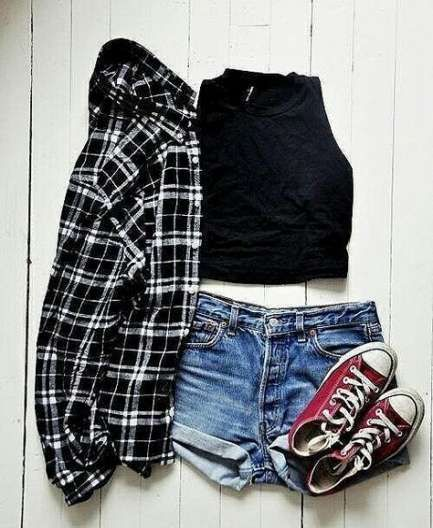 20+ Trendy How To Wear Denim Shorts Summer Outfits Crop Tops