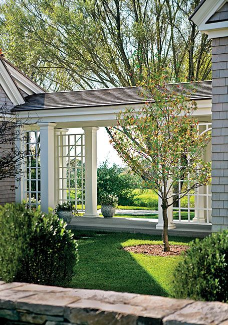 Home Architecture Ideas portico connecting home to carriage house/garage | house decor