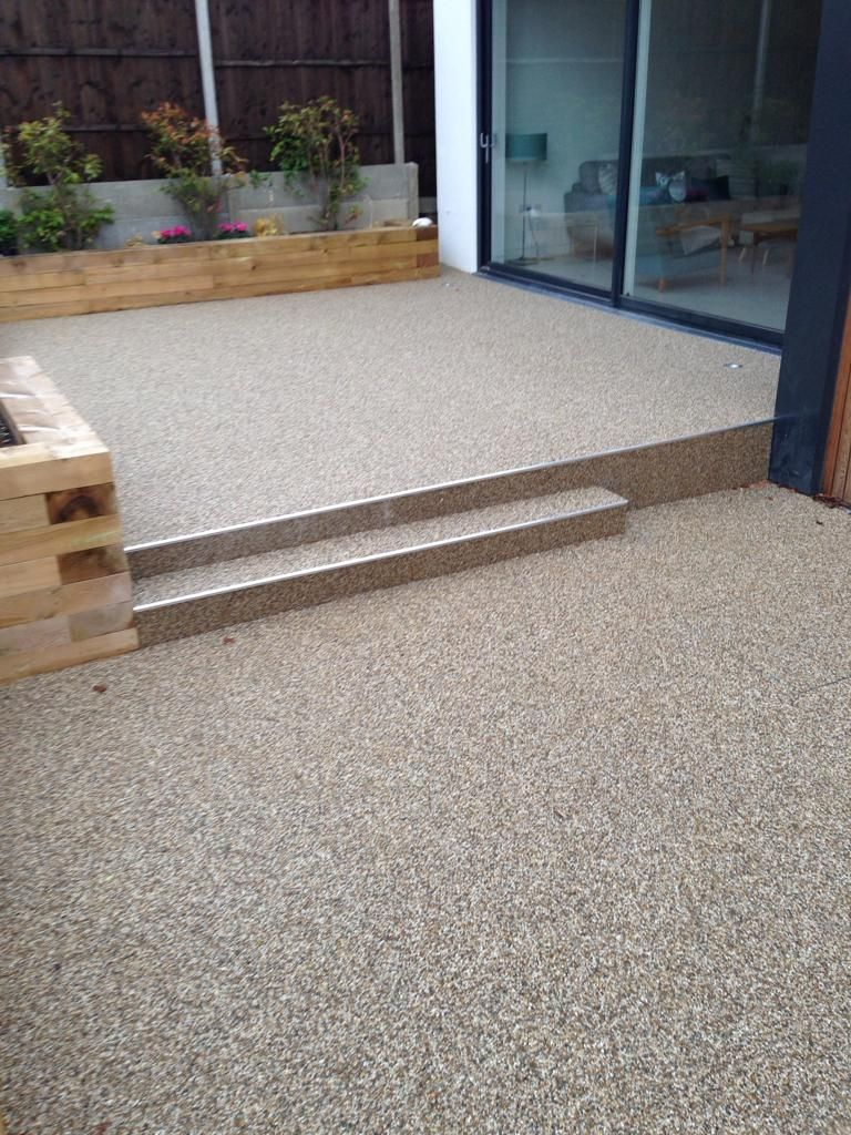 Patio Area With Steps Completed With Sureset Uk Ltd Products